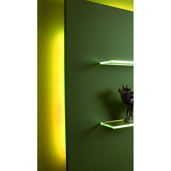 "Hafele LOOX 12V #2042 Flexible LED Strip Light with 300 LEDs, Yellow, 5m (196-7/8"") Length"