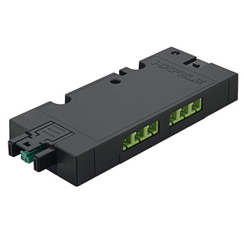 6-Way Distributor with Switching Function, Black, Maximum Connected Wattage 84 W