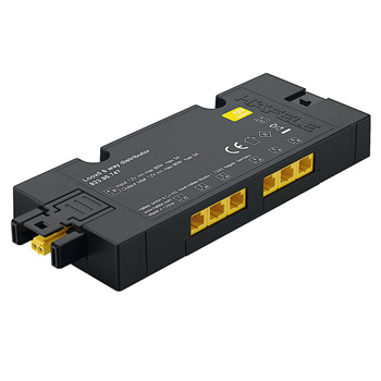 6-Way Distributior 12V without Switching Function, Black