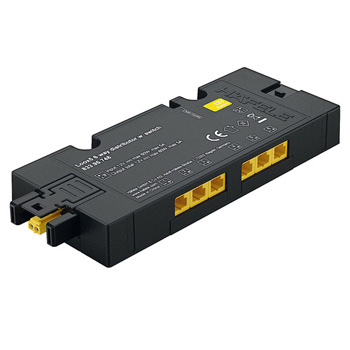 6-Way Distributior 12V with Switching Function, Black, Max. 60 W