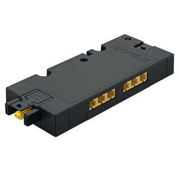 6-Way Distributior 12V with Switching Function, Black, Max. 42 W