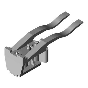 Hafele Porta 100 Track Stopper, with Adjustable Retention Spring,