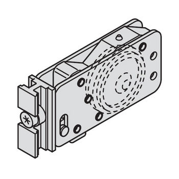 Hafele Divido 80 GR Fitting Set, Sliding Door Hardware, Top Hung
