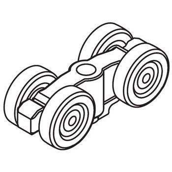 Hafele Divido 100 GRM Fitting Set, Sliding Door Hardware, Top Hung & Bottom Rolling System