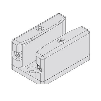 Hafele Porta 100 Fitting Set, Sliding Door Hardware, Top Hung System