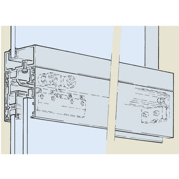 Hafele Porta 100 Fitting Set, Sliding Door Hardware, Top Hung System