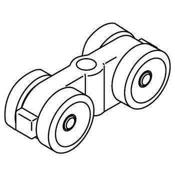 Hafele Porta 100 Double Roller Running Gear