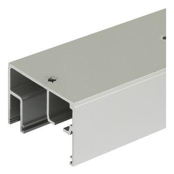 "Hafele Porta 100 GWF Upper Track, Pre-drilled, 2.5 m (8' 2-7/16"") length, Aluminum"