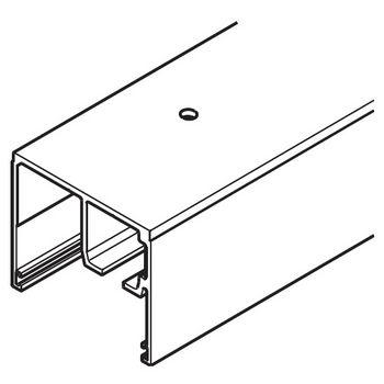 "Hafele Porta 100 GW Upper Track, Pre-drilled, 2.5 m (8' 2-7/16"") length, Aluminum"
