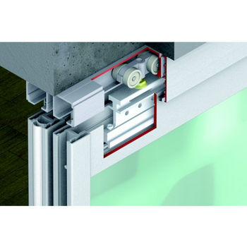 Hafele Divido 100 GR Fitting Set, Sliding Door Hardware, Top Hung & Bottom Rolling System, Suitable for 1 – 4 sliding doors