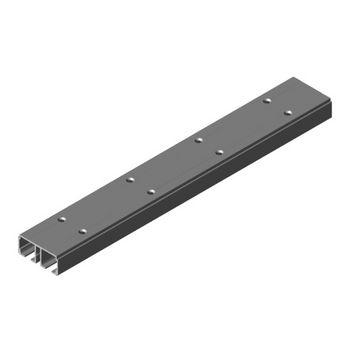 "Hafele Divido 100 Dual Upper Running Track, 2.5 m (8' 2-7/16"") length, 73mm W x 31mm D (2-7/8""W x 1-1/4""D), Aluminum"