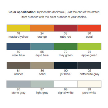 Hewi Collection Color Chart