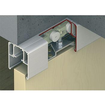 sliding door hardware by hafele for wood solid or glass doors. Black Bedroom Furniture Sets. Home Design Ideas
