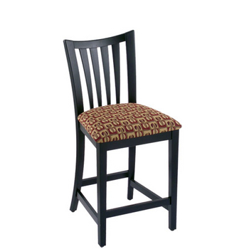 Holland Wood Slatback Bar Stool