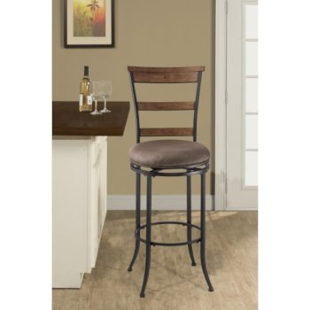 Hillsdale Furniture Charleston Swivel Ladder Back Counter Stool