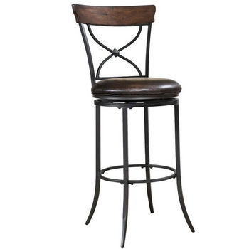 Hillsdale Furniture Cameron Swivel X-Back Counter Stool