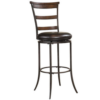 Hillsdale Furniture Cameron Swivel Ladder Back Counter Stool