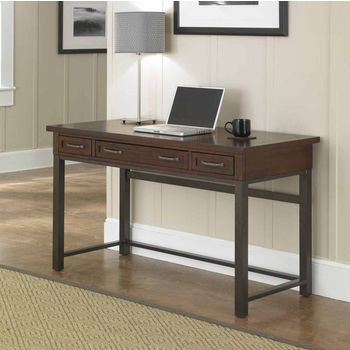 Home Styles Cabin Creek Executive Desk, Multi-step Chestnut