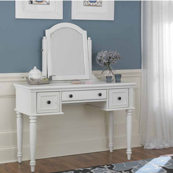 Home Styles Bermuda Vanity & Mirror, White