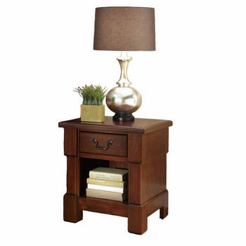 Home Styles The Aspen Collection Night Stand, Rustic Cherry
