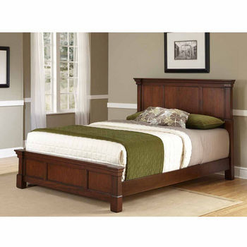 Home Styles The Aspen Collection Queen Bed, Rustic Cherry