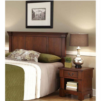 Home Styles The Aspen Collection Queen/Full Headboard and Night Stand, Rustic Cherry