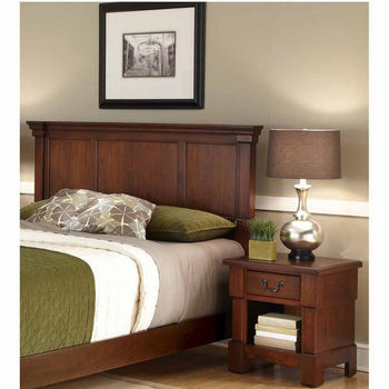 Home Styles The Aspen Collection King/California King Headboard and Night Stand, Rustic Cherry