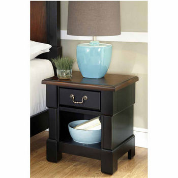 Home Styles The Aspen Collection Night Stand, Rustic Cherry and Black