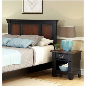 Home Styles The Aspen Collection King/California King Headboard and Night Stand, Rustic Cherry and Black