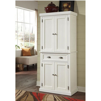 Home Styles Nantucket Pantry, Distressed White