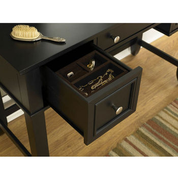 Home Styles Bedford Black Vanity Table