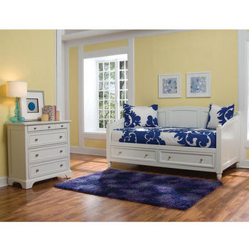 Home Styles Naples Storage Daybed & Chest, White
