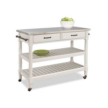 Home Styles Savannah Cart in White with Free Shipping ...
