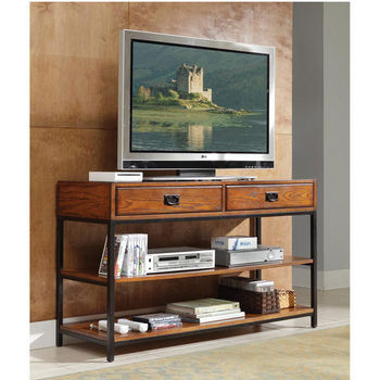 Home Styles Modern Craftsman Media Console, Oak