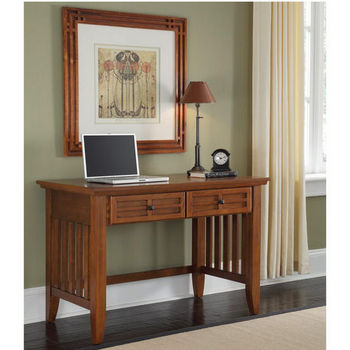 Home Styles Arts & Crafts Student Desk, Cottage Oak
