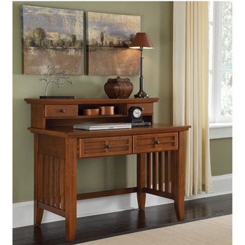 Home Styles Arts & Crafts Student Desk & Hutch, Cottage Oak