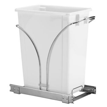 "Household Essentials 19"" Sliding Trash Can-KD Chrome Single Pack New Design"