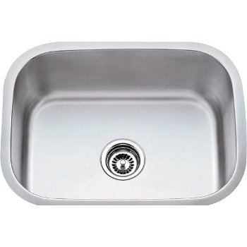 "Hardware Resources 23-1/2"" Wide 18 Gauge 304 Stainless Steel Utility Sink, 23-1/2"" W x 17-3/4"" D x 9"" H"