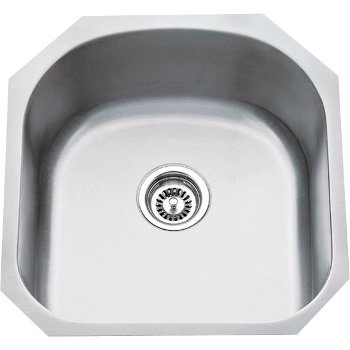 """Hardware Resources 19-3/4"""" Wide 18 Gauge 304 Stainless Steel Utility Sink, 19-3/4"""" W x 20-1/2"""" D x 9"""" H"""