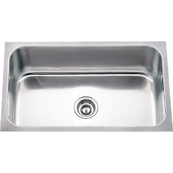 "Hardware Resources 30"" Wide 18 Gauge 304 Stainless Steel Rectangular Utility Sink, 30"" W x 18"" D x 9"" H"