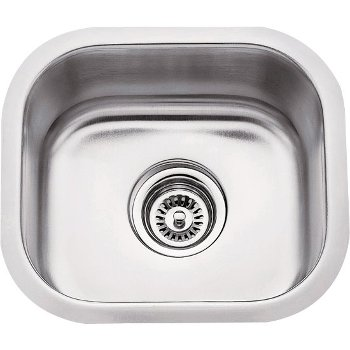 "Hardware Resources 14-1/2"" Wide 18 Gauge 304 Stainless Steel Bar Sink, 13"" W x 14-1/2"" D x 7"" H"