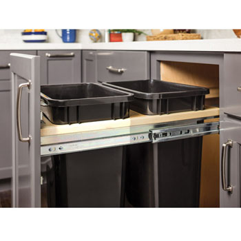 Hardware Resources Double Bin Top Mount Trash Can Unit