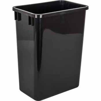 35 Quart Black Bin
