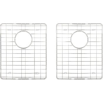"Hardware Resources 2-Piece Stainless Steel Grid for HMS250 Fabricated Kitchen Sink, 12-13/16"" W x 15-3/8"" D x 1"" H"