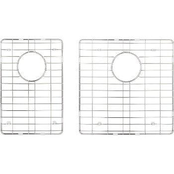 "Hardware Resources 2-Piece Stainless Steel Grid for HMS260 Fabricated Kitchen Sink, 15-3/8"" W x 15-3/8"" D x 1"" H"