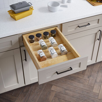 """15"""" Drop-In Spice Tray Drawer Insert - Lifestyle View"""