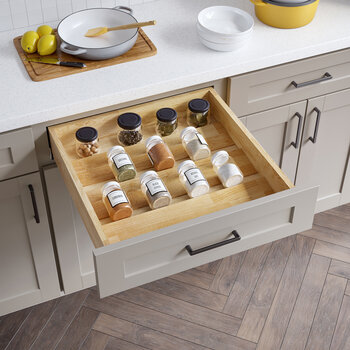 """24"""" Drop-In Spice Tray Drawer Insert - Lifestyle View"""