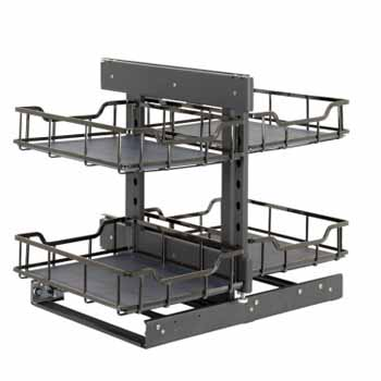 Hardware Resources Standard 18'' W Brushed Nickel Blind Corner Organizer Display View 2