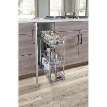 """Hardware Resources Storage with Style™ 5"""" Wire Base Pullout in Polished Chrome Frame, For 6"""" Minimum Cabinet Opening, 5-15/16"""" W x 21-5/16"""" D x 24-1/16"""" H"""