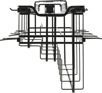 "Hardware Resources Hanging Soft Close Pan Organizer with Lid Storage and Adjustable Hooks, Black Nickel, 15-5/8""W x 22-5/8""D x 13-7/16""H"